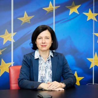 Věra Jourová, místopředsedkyně Evropské komise pro hodnoty a transparentnost